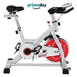 ANCHEER Indoor Cycling Bike, Belt Drive Indoor Exercise Bike with 49LBS Flywheel (Sliver)