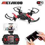 Metakoo Mini Drone for Kids, Quadcopter with WiFi FPV HD Camera, Altitude Hold, 4 Channels 6-Axis Gyro, Headless Mode, One-Key Takeoff/Landing/Return, Trajectory Flight, Gravity Sensor, 3D Flips, M2