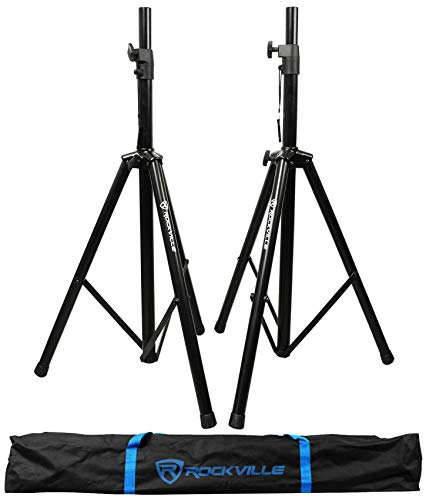 Rockville Pair of Tripod DJ PA Speaker Stands +...
