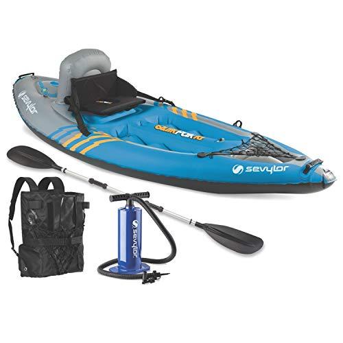 Sevylor Quikpak K1 1-Person Kayak Blue, 8'7' x 3'