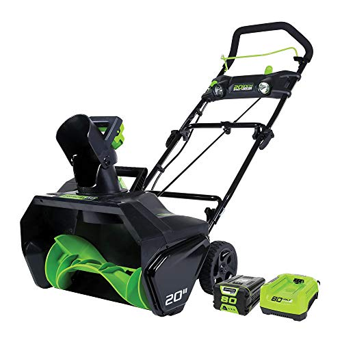 Greenworks Pro 80V 20 inch Snow Thrower with 2Ah...