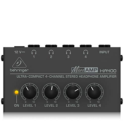 BEHRINGER HA400 Ultra-Compact 4-Channel Stereo...
