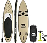 Atoll 11' Foot Inflatable Stand Up Paddle Board (6...