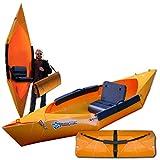 Tucktec Yellow Folding Kayak | 10 ft. Hard Shell...