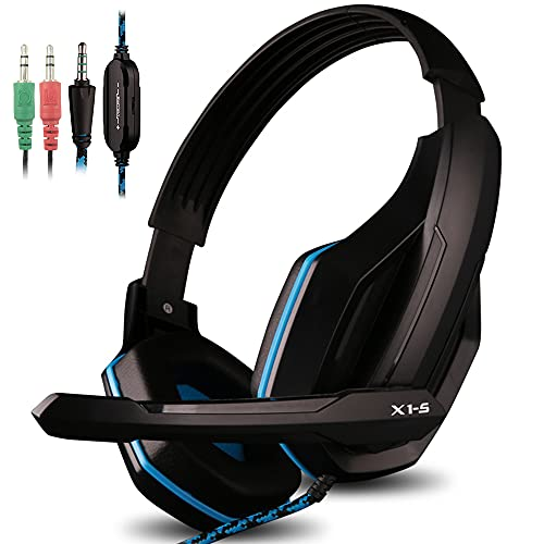 AFUNTA Gaming Headset Compatible PS4 PC Smart...
