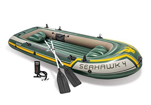 Intex Seahawk 4, 4-Person Inflatable Boat Set with...