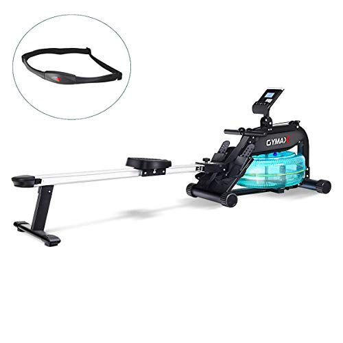 Goplus Water Rowing Machine, with Heart Rate...