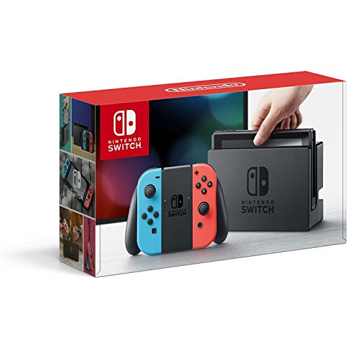 Nintendo Switch – Neon Red and Neon Blue Joy-Con...