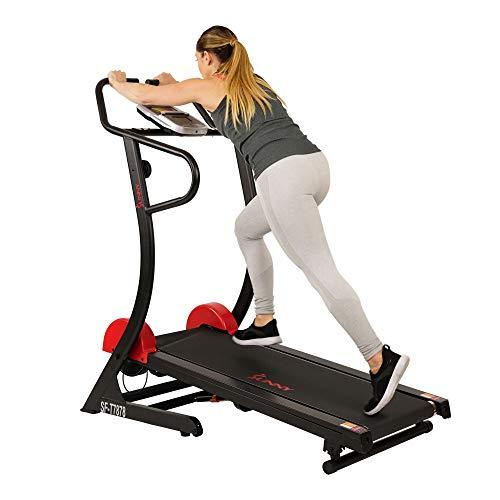 Sunny Health & Fitnesss Manual Treadmill with...