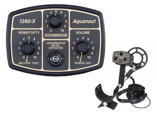 Fisher 1280-X Aquanaut Metal Detector with 10'...