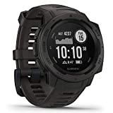Garmin Instinct, Rugged Outdoor Watch with GPS,...