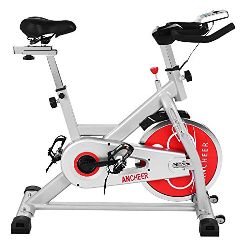 ANCHEER Indoor Cycling Bike, Belt...