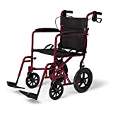 Medline Lightweight Transport Wheelchair with...