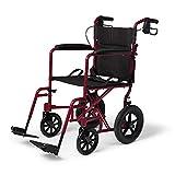 Medline Lightweight Transport Wheelchair with...