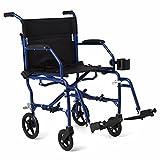 "Medline Ultralight Transport Wheelchair with 19""..."