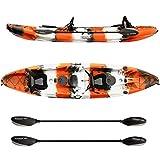 Elkton Outdoors Tandem Fishing Kayak - 12.2 ft Sit...