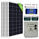 ECO-WORTHY 720 Watts Complete Solar Panel Kit:...