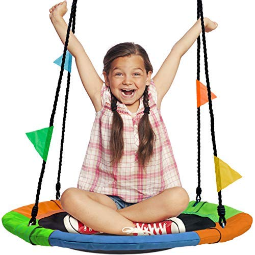 Sorbus Saucer Swing Surf – Kids Indoor/Outdoor...