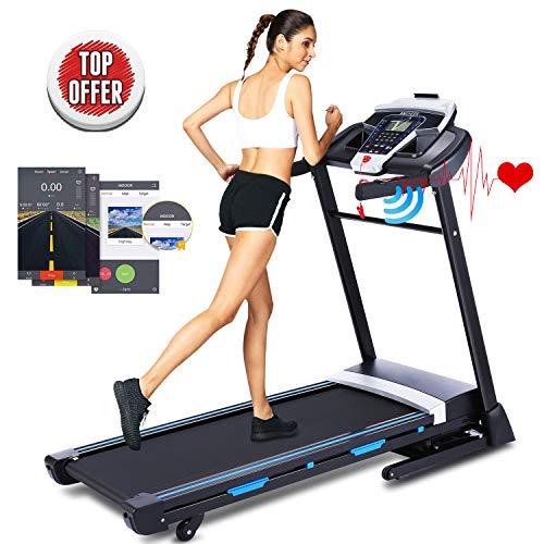 ANCHEER 3.25HP Folding Treadmill, Electric...