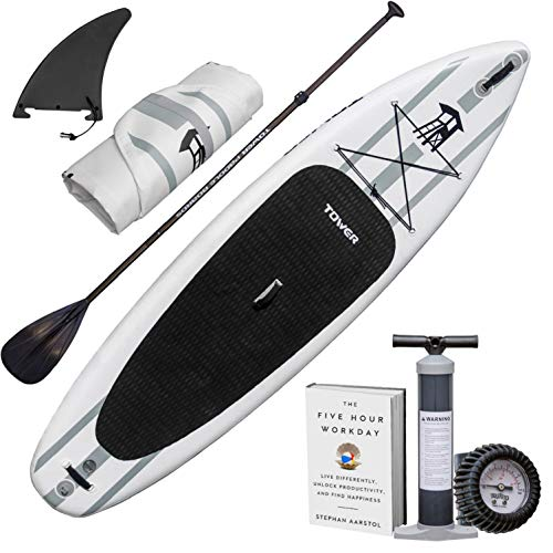 """TOWER Inflatable 10'4"""" Stand Up Paddle Board -..."""