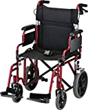 NOVA Lightweight Transport Chair with Locking Hand...