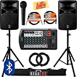 Yamaha STAGEPAS 600BT Portable PA System Bundle...