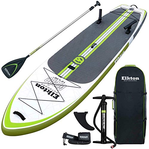 Elkton Outdoors Grebe Fishing Inflatable Paddle...