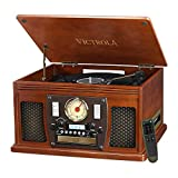 Victrola Navigator 8-in-1 Classic Bluetooth Record...