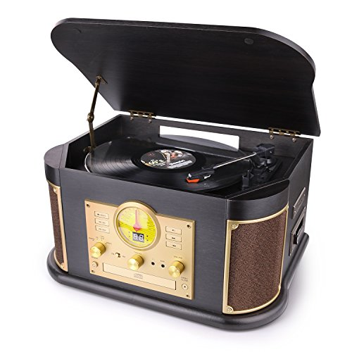 Bluetooth Record Player, dl Vintage Turntable...