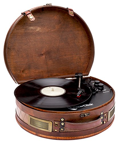 ClearClick Vintage Suitcase Turntable with...