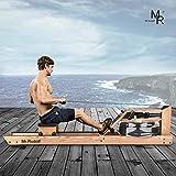 Mr Rudolf Oak Wood Water Rowing Machine with...