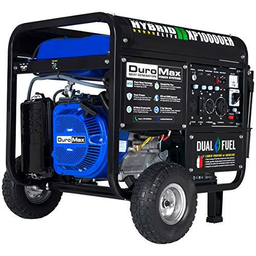 DuroMax XP10000EH Dual Fuel Portable Generator -...