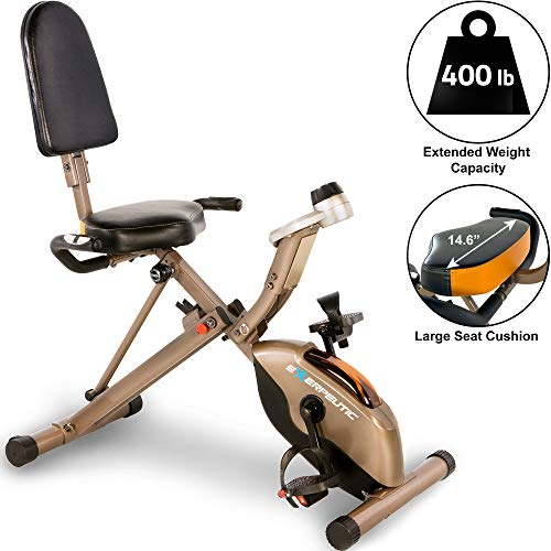 Exerpeutic Gold 525XLR Folding Recumbent Exercise...