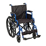 Drive Medical Blue Streak Wheelchair with Flip...