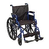 Drive Medical Blue Streak Wheelchair with Flip...