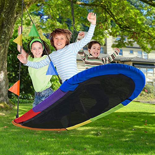 Sorbus Saucer Swing Surf – Kids Indoor/Outdoor...