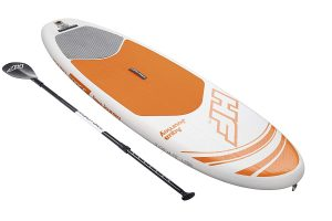 "Bestway Hydro-Force 9'×30'×4.75""  Aqua journey inflatable stand up paddle board"