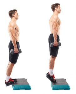 Body weight calf raise
