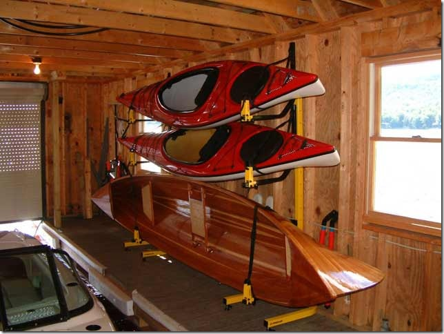 kayak storing inside