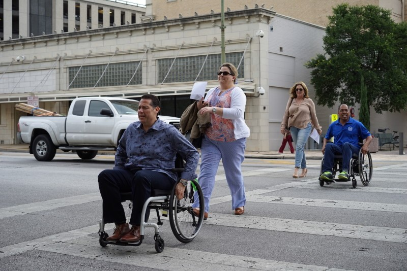 disables chalenges while using wheelchairs