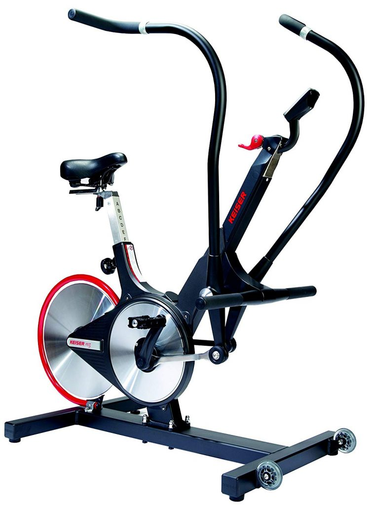 keiser spin bike with bluetooth and digital screen