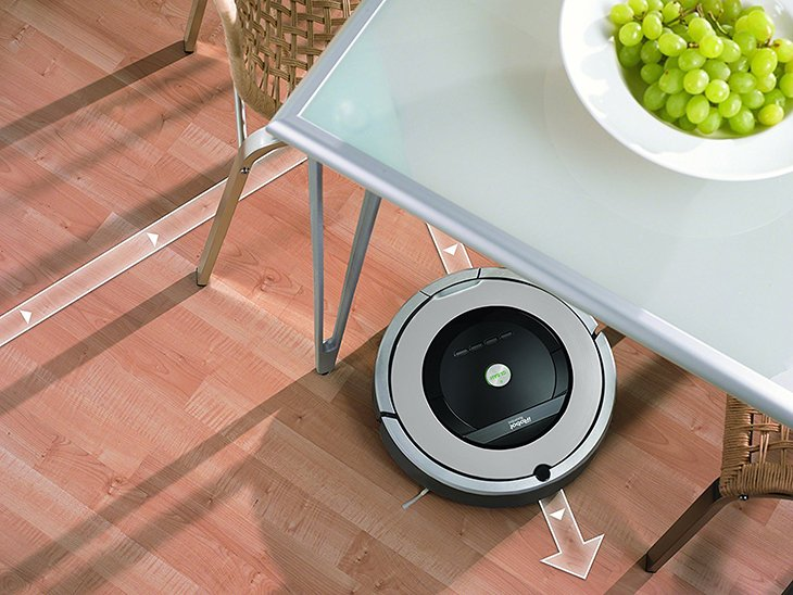Roomba 860 under table