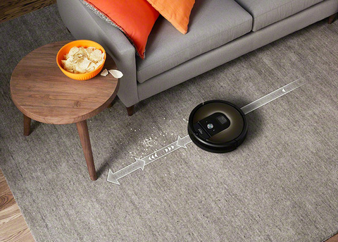 Straight line of roomba 985