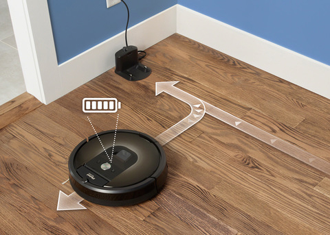 battery charging of roomba 985