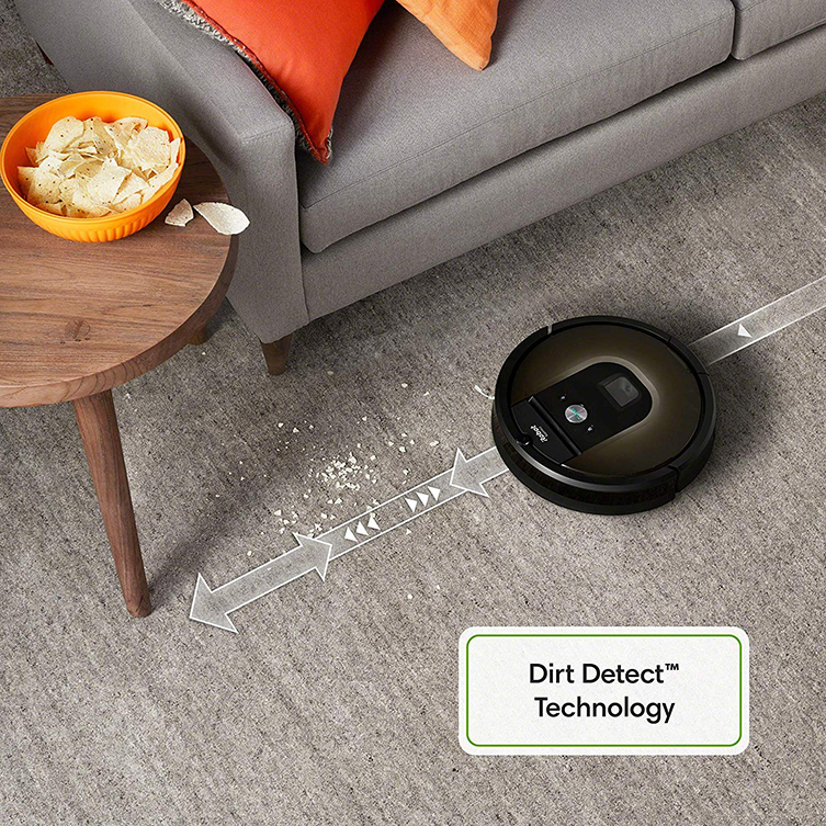 roomba 980 dirt detect