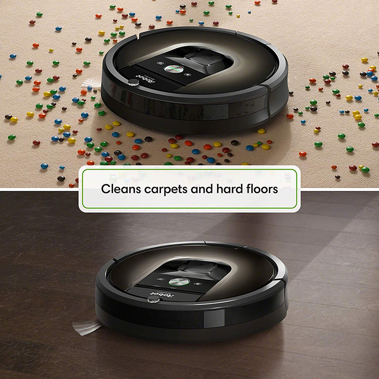 roomba 980 on carpet and hardfloor