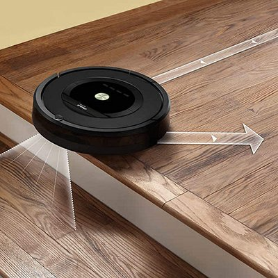 Roomba 805 on steps