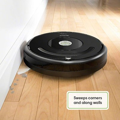 Roomba hardwood floor and wall